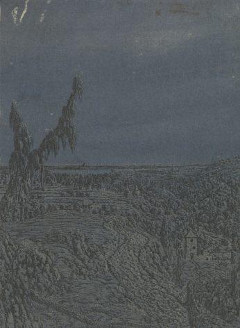 Heuvelig landschap in de hoogte, Hercules Segers ca. 1615, ca. 1630.