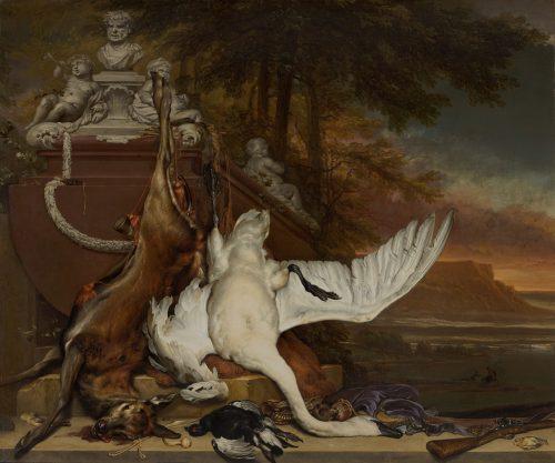 Jan Weenix (1642-1719), Dode zwaan, ca. 1700-1719, Mauritshuis, Den Haag.