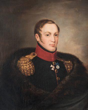 Eduard Caspar Hauser (Zwitserland, 1807–1864), Portret van tsaar Nicolaas I (1796–1855, tsaar vanaf 1825), olieverf op doek, 1830.