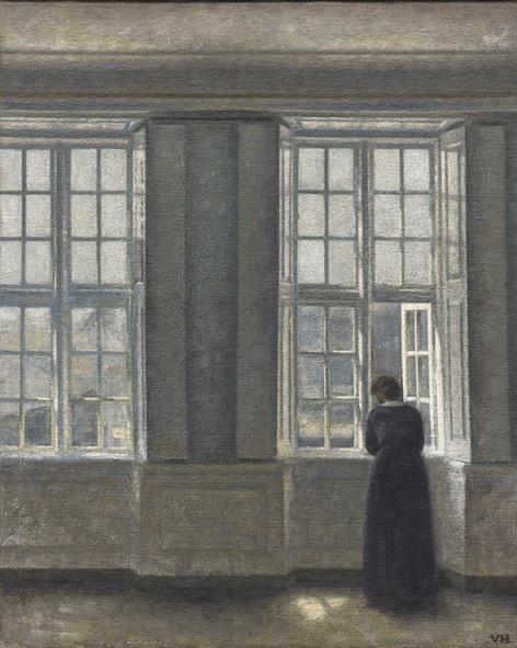 Vilhelm Hammershøi: De hoge vensters, 1913, Ordrupgaard. Foto: Anders Sune Berg.