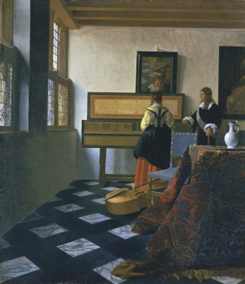 Johannes Vermeer, De Muziekles, c. 1660-1662, Royal Collection Trust / © Hare Majesteit Koningin Elizabeth II 2016.