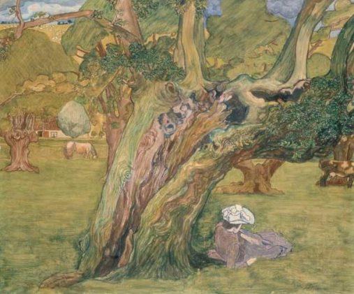 Jan Toorop, Oude eiken in Surrey, 1890, olieverf op doek, Stedelijk Museum Amsterdam.