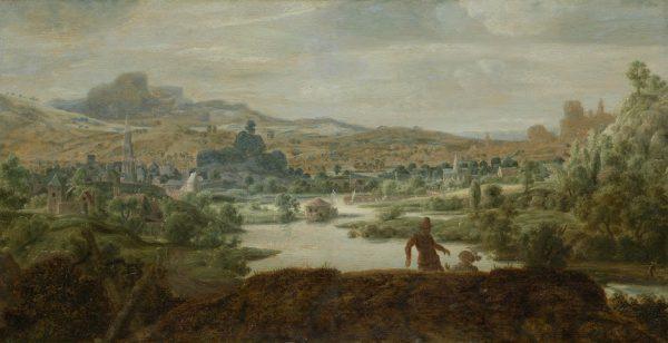 Hercules Segers, Rivierlandschap met figuren, ca. 1625-30, privécollectie.