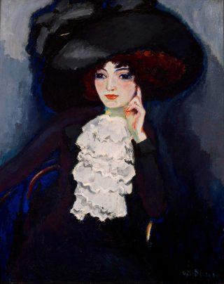 Kees van Dongen, La Dame au jabot, 1911, olieverf op doek, particuliere collectie.