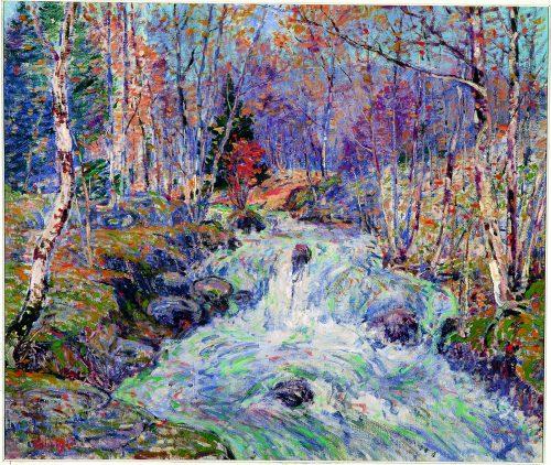William Henry Singer (1868-1943), Bergstroom in Noorwegen, 1911, Olieverf op doek, Singer Laren.