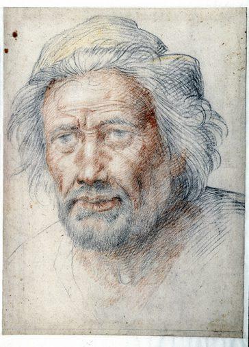 Fra Bartolommeo, Portret van Michelangelo Buonarroti, ca. 1516-1517, Museum Boijmans Van Beuningen (voormalige collectie Koenigs).