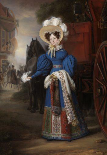 J.B. van der Hulst, Portret Anna Paulowna, 1831. Foto Paleis Het Loo.