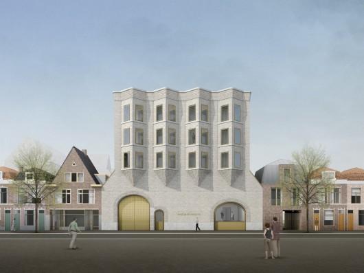 Impressie nieuwbouw achtergevel, door Happel Cornelisse Verhoeven.