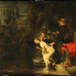 Rembrandt, Suzanna door de ouderlingen belaagd, Gemäldegalerie Berlijn.