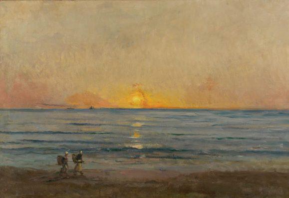 Charles-François Daubigny (1817-1878), Ondergaande zon bij Villerville, 1874. De Mesdag Collectie, Den Haag.