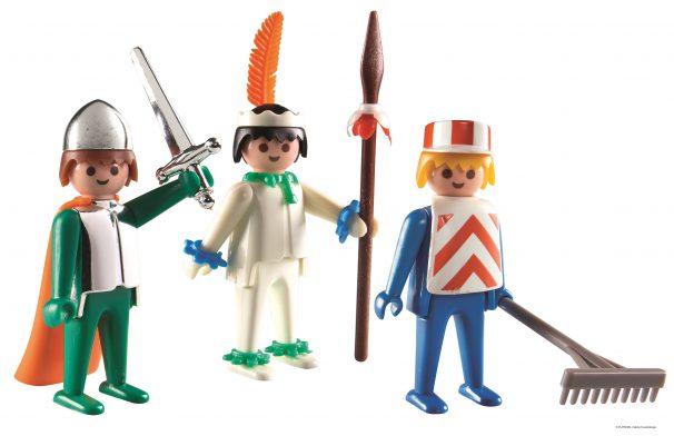 De eerste drie figuren van Playmobil.