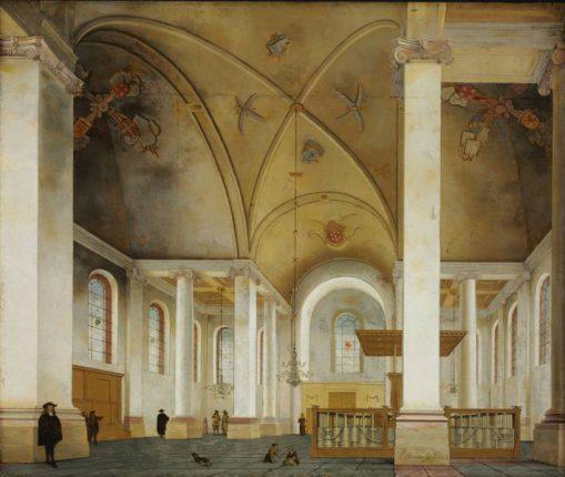Pieter Jansz Saenredam, Interieur van de Nieuwe Kerk in Haarlem, 1653, Szépmüvészeti Múzeum, Boedapest.