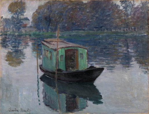 Claude Monet, De schildersboot, 1874, collectie Kröller-Müller Museum, Otterlo.