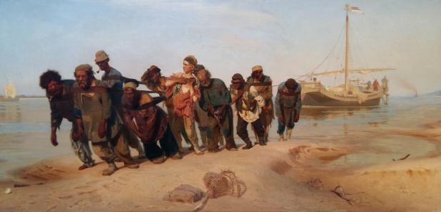 Ilya Repin, Wolgaslepers, 1870-73, Staats Russisch Museum, Sint-Petersburg.