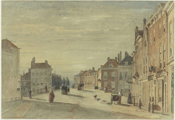 Jan Weissenbruch (1822-1880), De Wagenbrug te Den Haag, ongedateerd, Teylers Museum, Haarlem.