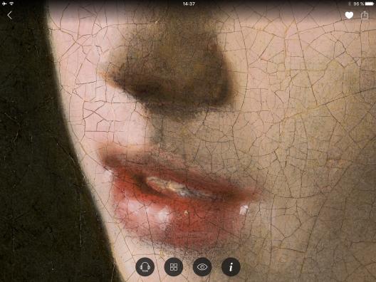 Screenshot met detail uit Meisje met de parel.