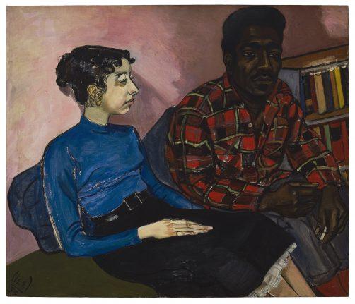 Alice Neel, Rita and Hubert, 1954, Olieverf op doek, 86,4 x 101,6 cm, Defares collectie , Foto: Malcolm Varon © Estate of Alice Neel.