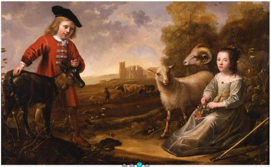 Jacob Gerritz Cuyp en Aelbert Cuyp, Portret van een negenjarige jongen en een zevenjarig meisje, Dordrechts Museum, aankoop met steun van Vereniging Rembrandt en Stichting Vrienden van de Dordtse Musea 2009.
