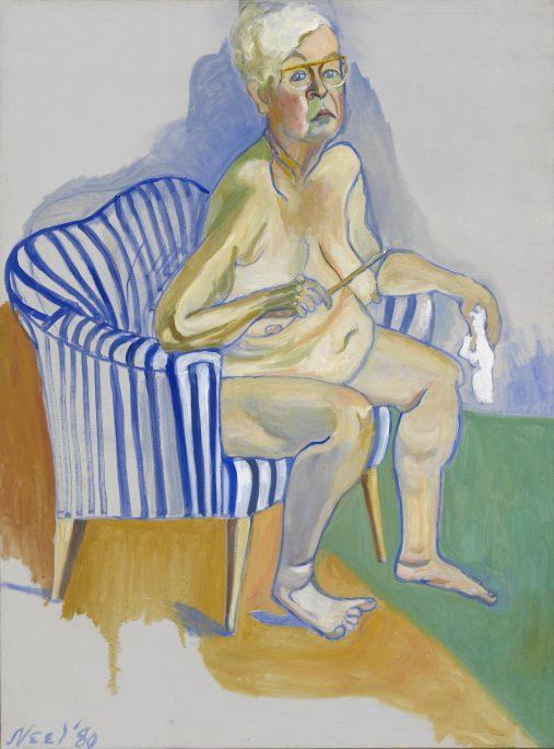 Alice Neel, Self portrait, 1980 National Portrait Gallery, Smithsonian Institution © Estate of Alice Neel.