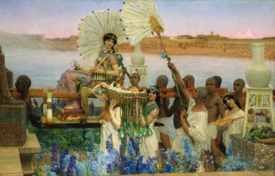 Sir Lawrence Alma-Tadema, Mozes gevonden!, 1904, olieverf op doek, particuliere collectie. Foto: Christie's Images Limited.