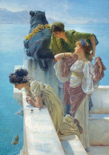 Sir Lawrence Alma-Tadema, Een gunstig uitkijkpunt, 1895, collectie van Ann en Gordon Getty.