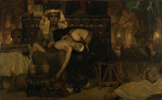 Sir Lawrence Alma-Tadema, De dood van de eerstgeborene, 1872, Rijksmuseum, Amsterdam.