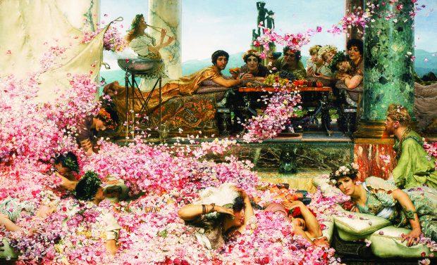 Sir Lawrence Alma-Tadema, De rozen van Heliogabalus, 1888, olieverf op doek, collectie van Pérez Simón, Mexico. Foto: Arturo Piera.