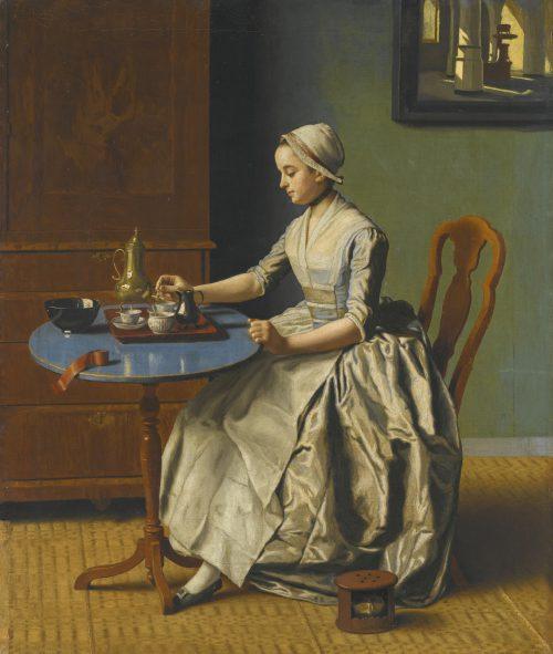 Jean-Etienne Liotard (1702-1789), Hollands meisje aan het ontbijt, ca 1756-57, olieverf op doek, Rijksmuseum, Amsterdam.
