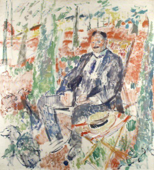 Rik Wouters, Man met strooien hoed (portret van zijn vader), 1913, Musée des Beaux-Arts Luik.