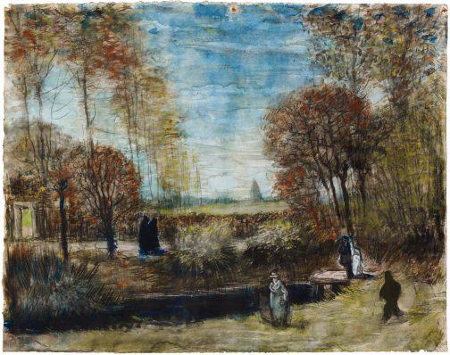 Vincent van Gogh, De tuin van de pastorie te Nuenen, 1885, Waterverf op papier, Het Noordbrabants Museum, 's-Hertogenbosch.