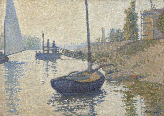 Paul Signac, Het 'Ponton de la Félicité' bij Asnières (Opus nr. 143), 1886, Van Gogh Museum, Amsterdam
