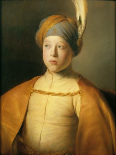 Jan Lievens (1606-1674), Jongen met mantel en tulband, Boy in a cape and turban (Portret van prins Ruprecht van de Palts), ca. 1631, olieverf op paneel © New York, The Leiden Gallery.