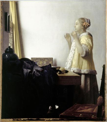 Johannes Vermeer, Jonge vrouw met parels, 1663-1664, olieverf op doek, Staatliche Museen zu Berlin, Preußischer Kulturbesitz, Gemäldegalerie © BPK, Berlin, Dist. RMN-Grand Palais Jörg P. Anders.