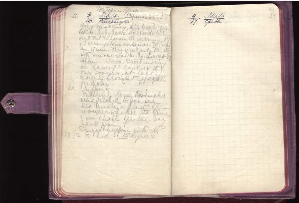 Laatste pagina uit het laatste dagboek van Alexandra Fjodorovna, 1918 © State Hermitage Museum, Sint Petersburg.