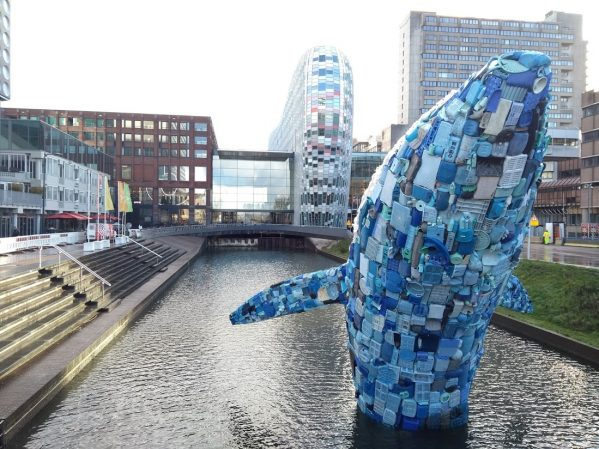 Reusachtige walvis als aanklacht tegen plastic soep - Digitale ...